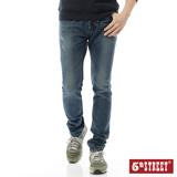 5th STREET 粗線調直筒牛仔褲-男-酵洗藍