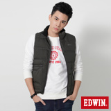 EDWIN 網路限定 雙拉鍊口袋羽絨背心-男-暗灰色