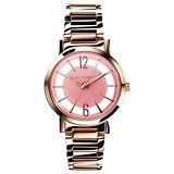 RELAX TIME RT56 輕熟風格系列鏤空腕錶-粉x玫瑰金/36mm RT-56-10