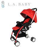 【美國 L.A. Baby】超輕量雙向全罩嬰幼兒手推車 Travelight Baby Stroller (紅色)