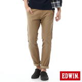EDWIN 迦績褲JERSEYS剪接立體牛仔褲-男-灰卡其