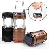 二用 太陽能充電/電池 手提式LED露營燈 ..