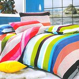 【美夢元素】天鵝絨 彩虹天堂 雙人四件式被套床包組