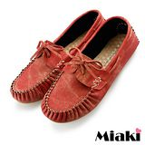 【Miaki】MIT 懶人鞋典經百搭休閒平底包鞋 (紅色)