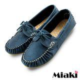 【Miaki】MIT 懶人鞋典經百搭休閒平底包鞋 (藍色)