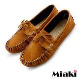 【Miaki】MIT 懶人鞋典經百搭休閒平底包鞋 (棕色)