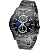 SEIKO SPIRIT 萬年曆多功能計時腕錶 V198-0AC0P SBPJ017J