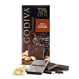 【GODIVA】頂級巧克力磚系列-72%杏仁黑巧克力口味 100g