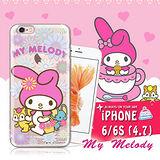 三麗鷗SANRIO授權正版 My Melody 美樂蒂 iPhone 6/6s i6s 4.7吋透明軟式保護套 手機殼(郊遊)