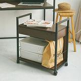 《Peachy life》高機能移動式簡約附抽檔案櫃/桌邊櫃(2色可選)