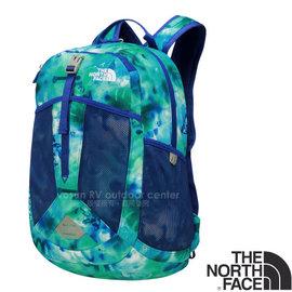 【美國 The North Face】RECON SQUASH 童款 童趣印花風格雙肩後背包17L (YKK拉鍊 日用運動休閒書包)/大容量主袋/CTK3 榮譽藍塗鴉