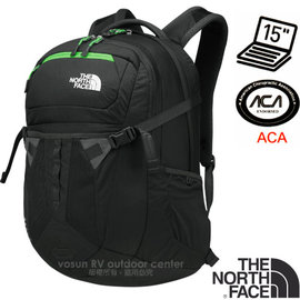 【美國 The North Face】新款 RECON 抗撕裂多功能後背包31L(YKK拉鍊+求生哨 電腦書包 可容15吋筆電 美國脊椎協會認證) CLG4 瀝灰/氪綠