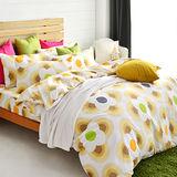 美夢元素 台灣製天鵝絨 風鈴花海 單人三件式床包被套組