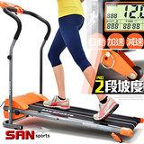 【SAN SPORTS 山司伯特】飆蜂電動跑步機C082-168A時速12公里+雙坡度+避震墊)電跑美腿機.運動健身器材