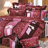 Lily Malane-芊綿深枝。雙人加大四件式精梳純棉兩用被床包組