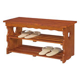 【Asllie】全實木穿鞋椅