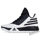 ADIDAS (男) 愛迪達 LIGHT EM UP 2 籃球鞋 黑/白-AQ8466