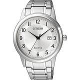 CITIZEN Eco-Drive光動能石英錶-銀/40mm AW1231-58B