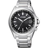 CITIZEN 鈦光動能電波萬年曆腕錶-黑/42mm CB1070-56E