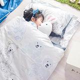 OLIVIA  寶貝熊 灰 100%精梳純棉 舖棉兩用加大型兒童睡袋