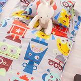 OLIVIA  機械紀元 灰 100%精梳純棉 舖棉兩用加大型兒童睡袋