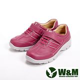 【W&M】(女)FIT系列簡約氣墊增高休閒女鞋-粉(另有白)
