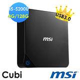 msi微星 Cubi-072XTW i5-5200U 4G 128G輕巧隨行小主機(無系統)