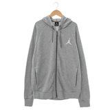 NIKE(男)JORDAN棉質運動外套(連帽)-灰-724510063