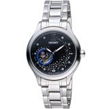 ORIENT 東方錶 HAPPY STREAM系列 藍月奇蹟鏤空機械錶 FDB0A007B