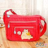 ABS貝斯貓 可愛音符貓咪拼布包 斜肩背包 側背包(甜心粉)88-175