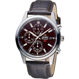 ORIENT 東方錶 SP 系列 三眼功能運動計時腕錶 FKU00005T