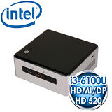 INTEL NUC NUC6I3SYH(i3-6100U) Kit mini PC《搭載Skylake第六代 CPU》