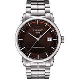 TISSOT LUXURY 動力儲存80機械腕錶-咖啡/41mm T0864071129100