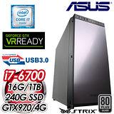 華碩Z170平台【妒慾匕首】Intel i7-6700四核 STRIX GTX970-4G獨顯 SSD+1TB虛擬實境電腦