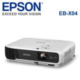 EPSON 台灣愛普生 EB-X04 液晶投影機-加送100吋布幕