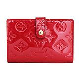 Louis Vuitton LV M90182 VERNIS漆皮壓紋法式零錢中夾 預購