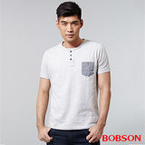 BOBSON 男款配條紋上衣 (25018-83)