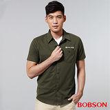 BOBSON 男款襯衫式針織上衣 (25006-41)