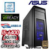 華碩Z170平台【全境破壞】Intel i5-6400四核 STRIX GTX970-4G獨顯 SSD+1TB效能電腦