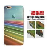 【Lestars】Apple iPhone6/6S/6 Plus/6s Plus 4.7吋 5.5吋 映色半透明質感 彩繪造型背膜 背貼-B09