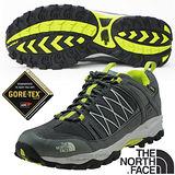 【美國 The North Face】男新款 ALTEO GTX Gore-Tex 低筒登山健行鞋.多功能越野跑鞋.慢跑鞋/ A2X8 雲杉綠/燈籠綠