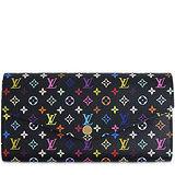 Louis Vuitton LV M60668 Sarah 村上隆系列經典黑彩花紋發財包長夾 預購