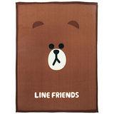 【享夢城堡】LINE FRIENDS Brown熊大刷毛毯(2入)