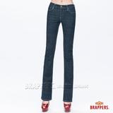 BRAPPERS 女款 新美腳Royal系列-女用中腰彈性小喇叭褲-藍