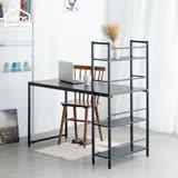 【Amos】樂活雙向層架式多功能120*60大桌面工作桌/書桌