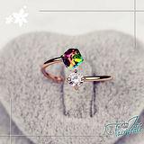 【伊飾童話】七彩方鑽*造型水晶戒指
