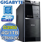 技嘉H110平台【尋寶密境】Intel第六代G系列雙核 GT610-2G獨顯 1TB燒錄電腦