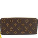 Louis Vuitton LV M61537 Clemence 經典花紋拉鍊長夾.黃 現貨