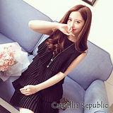 【C.R.】米蘭修身百褶洋裝 M-XL(共三色)