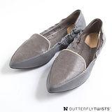 BUTTERFLY TWISTS - LUCY可折疊扭轉芭蕾舞鞋-淡灰色